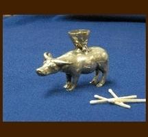 バリ島手作り 真鍮キャンドルホルダー ウシ