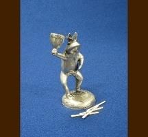 バリ島手作り 真鍮キャンドルホルダー カエル