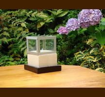 砂岩とガラスのキャンドルホルダー