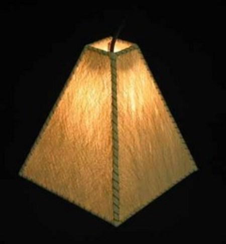 バリ島手作り インテリアランプ ペンダントライト ピラミッド白