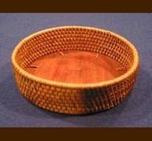 バリ島手作り アタトレイ 丸型