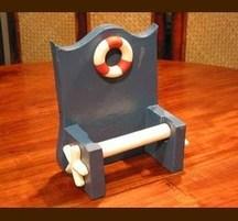手作りマリンインテリア トイレットペーパーホルダー 浮き輪
