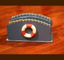 手作りマリンインテリア レターラック浮き輪