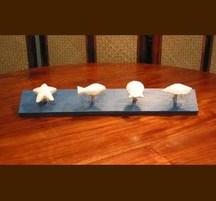手作りマリンインテリア 小物用ハンガー 魚貝
