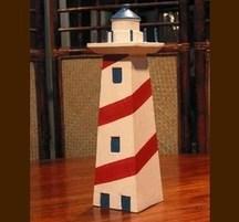 手作り灯台グッズ キーフック角型 赤灯