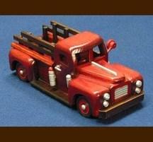 手作り木製乗物模型 消防車S