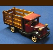 手作り木製乗物模型 トラックL