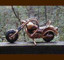 手作り木製乗物模型 ハーレー2L