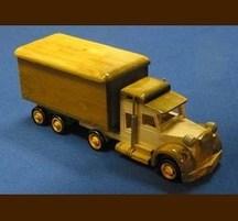 手作り木製乗物模型 トレーラー蓋付