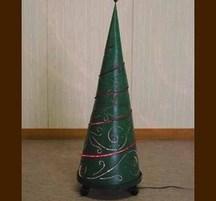 手作りクリスマスデコレーション ツリーライトL 緑