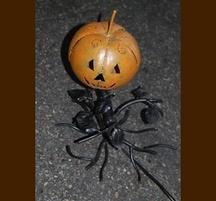 手作りハロウィングッズ かぼちゃランプ オレンジ/ブラック