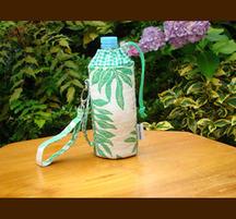 ハワイアンキルト ボトルホルダー グリーン